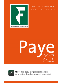 Dictionnaire Paye 2017