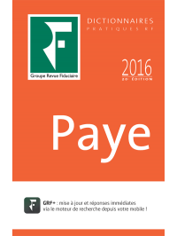 Dictionnaire Paye 2016