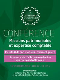 Conférence : Missions patrimoniales et expertise comptable