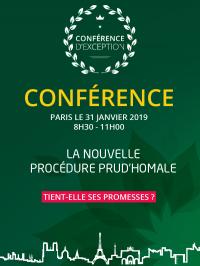 Conférence Prud'hommes, Paris 31 janvier 2019