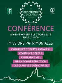 Conférence Aurep, 7 Mars Aix en Provence