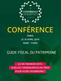 Conférence le Patrimoine, Paris, 16 avril 2019