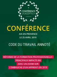 Conférence, Aix, 25 avril 2019
