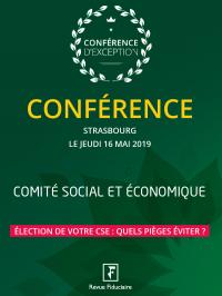 Conférence CSE Strasbourg, 16 mai 2019